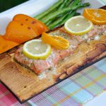 Cedar Planks For Grilling With Vegetables And Salmon