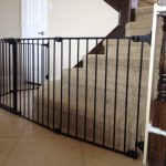 Child Safety Gates For Stairs With Black Design Around Stair Base