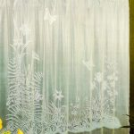 Clear Shower Curtain With Design Of Plants And Flower