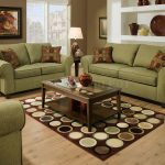 Cool Brown Pattern Pillows For Sofas Decorating With Green Sofa And Dotted Rug