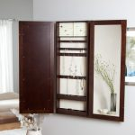 Cool Hanging Jewelry Armoire With Mirror