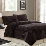 Dark Better Homes and Garden Comforter Sets With White Fur Rug