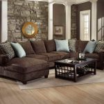 Dark Brown Sofa With Pillows For Sofas Decorating And Glass On Top Coffee Table