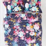 Dark Flower Design Of Plum And Bow Bedding