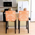 Decorative Orange Bar Stool Slipcovers With Stand Alone Kitchen Isand And Grey Kitchen Set