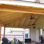 Decorative Patio Cover Wooden With Fan