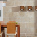 Dining Room Wall Tiles With Wooden Furniture Set Build My Dream House