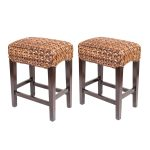 Double Seagrass Counter Stools