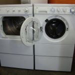 Double White Used Apartment Size Washer And Dryer