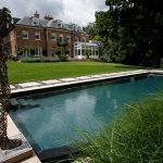 Elegant DIY Natural Swimming Pool With Statue Decor
