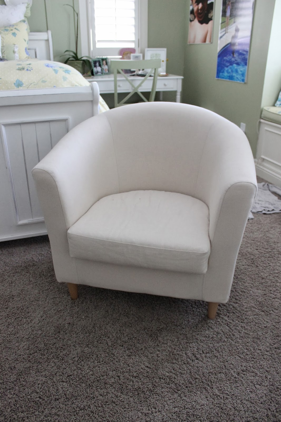 Elegant White Barrel Chair Slipcovers