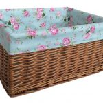 Extra Large Storage Baskets With Rose Blue Decor