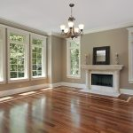 Family Room With Top Rated Interior Paint And Wooden Floor Plus Chandelier