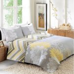 Floral Grey And Yellow Better Homes And Garden Comforter Sets Patterned With Fur Rug