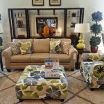Flower Sofa Table Pillows With Warm Rug SImple Lamps On Wood Tables Big Cabinet