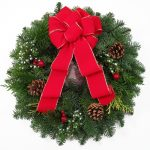 Fresh Pictures Of Christmas Wreaths With Red Velvet Ribbon