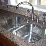 Granite Countertop Design And Grey Faucet Of Best Material For Kitchen Sink