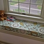 Green Floral Design Of Cushions For Window Seats