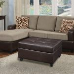 Grey Brown Poundex Bobkona Modular Sectional With Cool Pillows And Grey Fur Rug