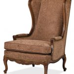 High Back Chairs For Living Room With Brown Classic Patterned