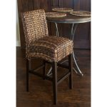 Home Seagrass Counter Stool With Wooden Round Table