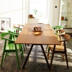 Ikea Stockholm Dining Table With Wooden And Green Chair