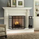 Interior Design Of Fireplace With White Color And Fence