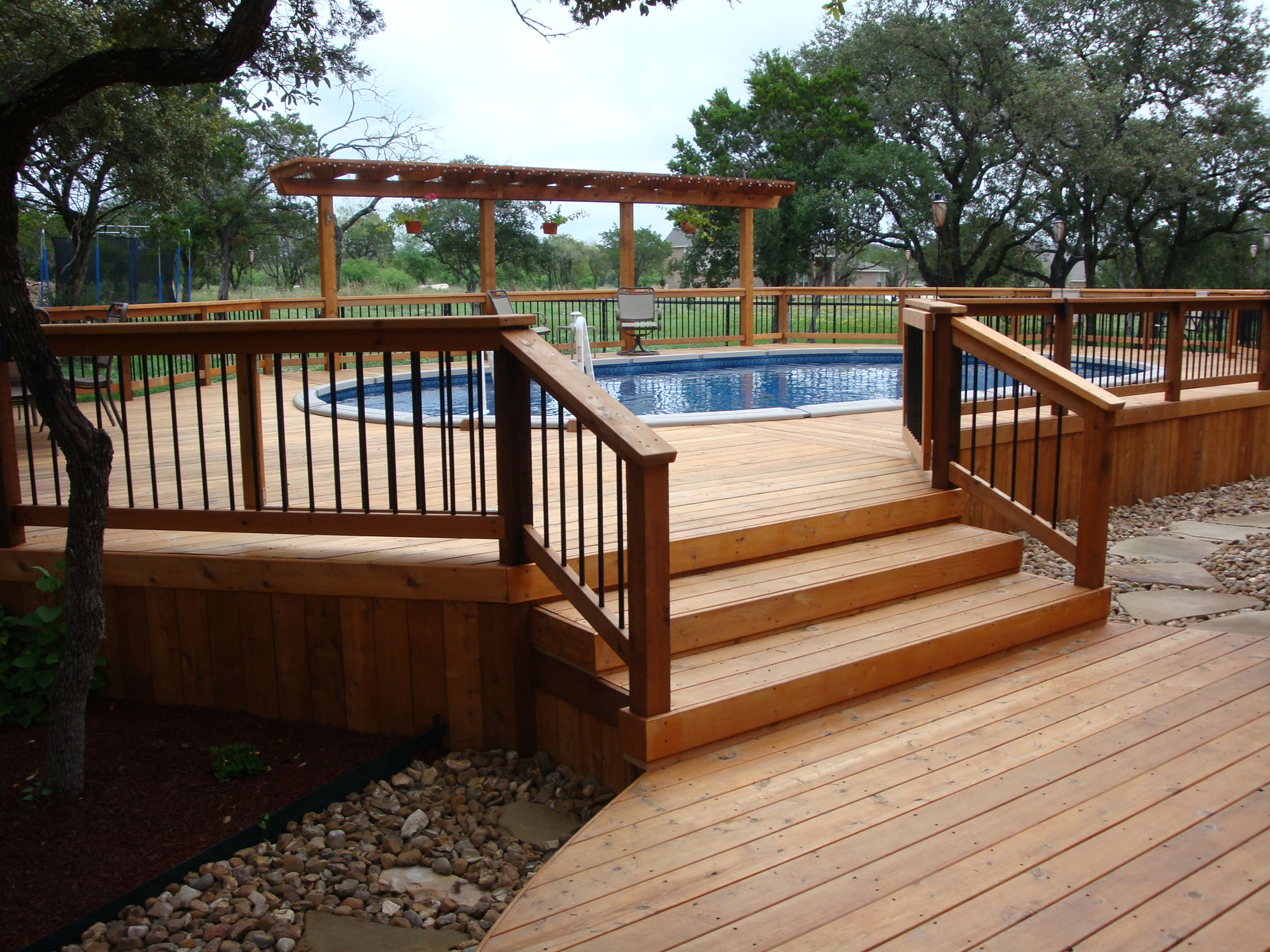 Awesome Home Deck Designs | HomesFeed on Pool Patios Ideas id=45881