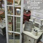 Long And Square Shaped Window Pane Mirror