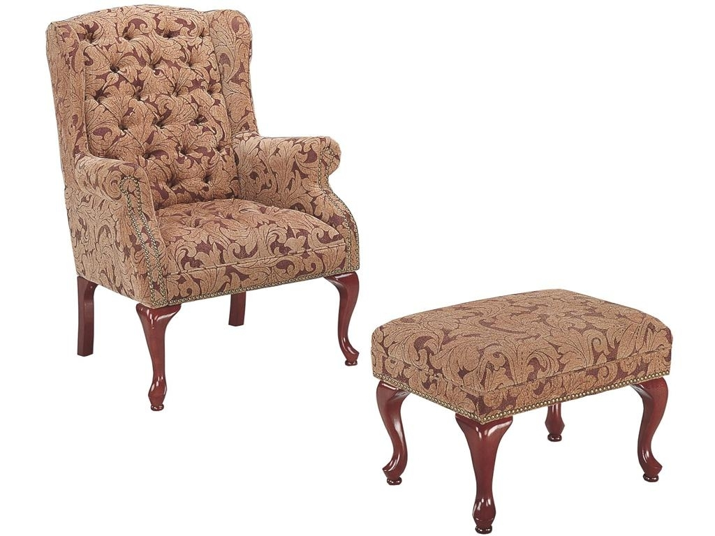 Perfect chairs with ottomans for living room homesfeed for Wooden chairs for living room