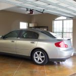 Marble Flooring For Garage Finishing Ideas With Grey Car