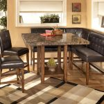 Modern Granite Dining Table Set With Corner Seat