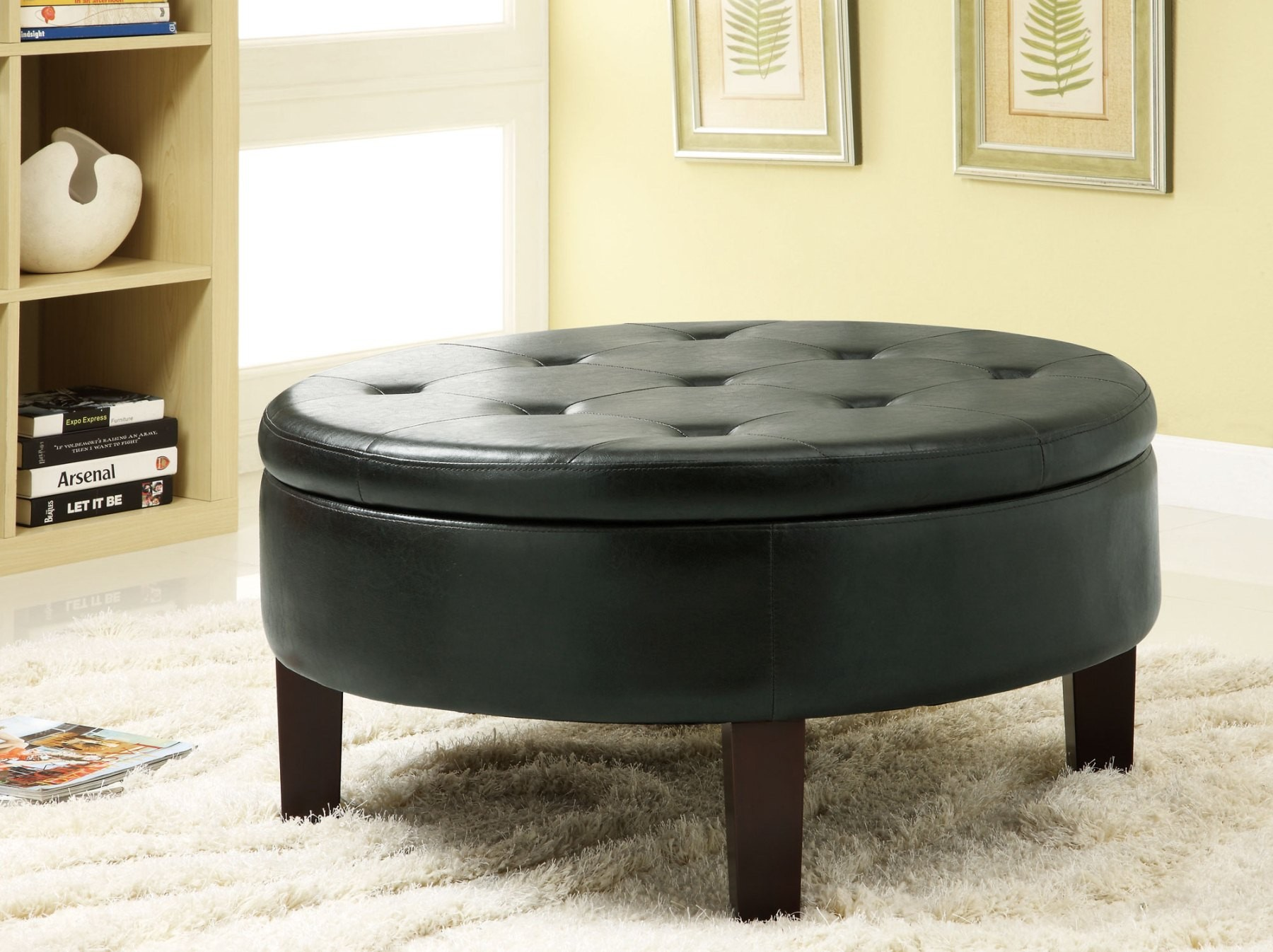 Round Coffee Table With Ottomans.Awesome Round Coffee Tables With Storage Homesfeed