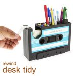 Plastic Tape And Pen With Cassette Of Funny Desk Accessories