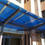 Polycarbonate Roof Panels Aluminium Blue Frame