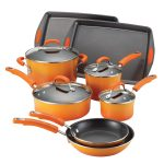 Porcelain Rachael Ray Dutch Oven Set With Orange Color Design