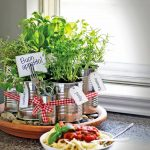 Pretty Design Of KItchen Herb With Ribbon Near Spagetti