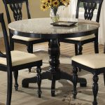 Round Granite Dining Table Set With Four Chairs
