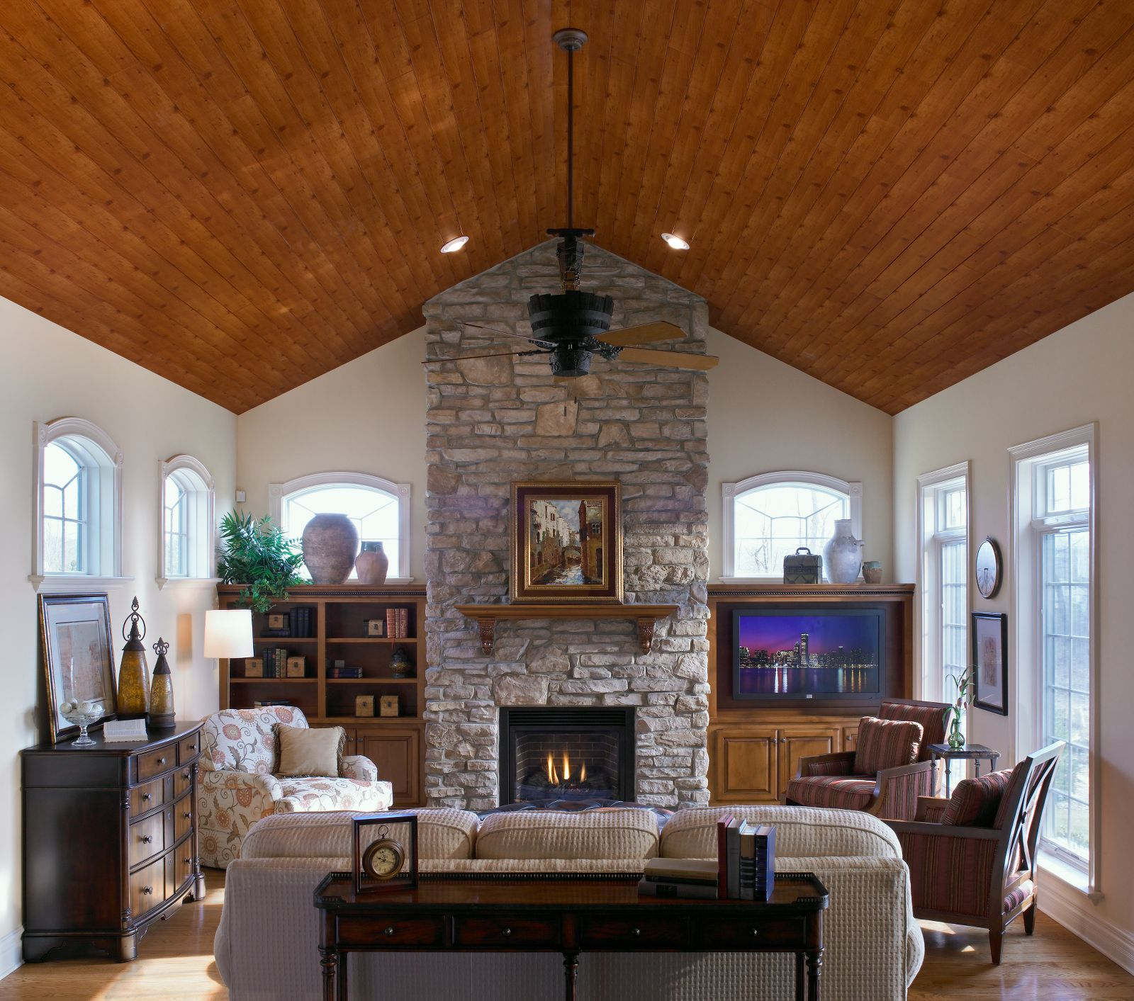 Natural Wood Ceiling Planks