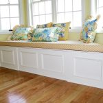 Simple Cushions For Window Seats With Floral Patterned On Pillows