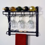 Simple Steel Wall Wine Glass Holder