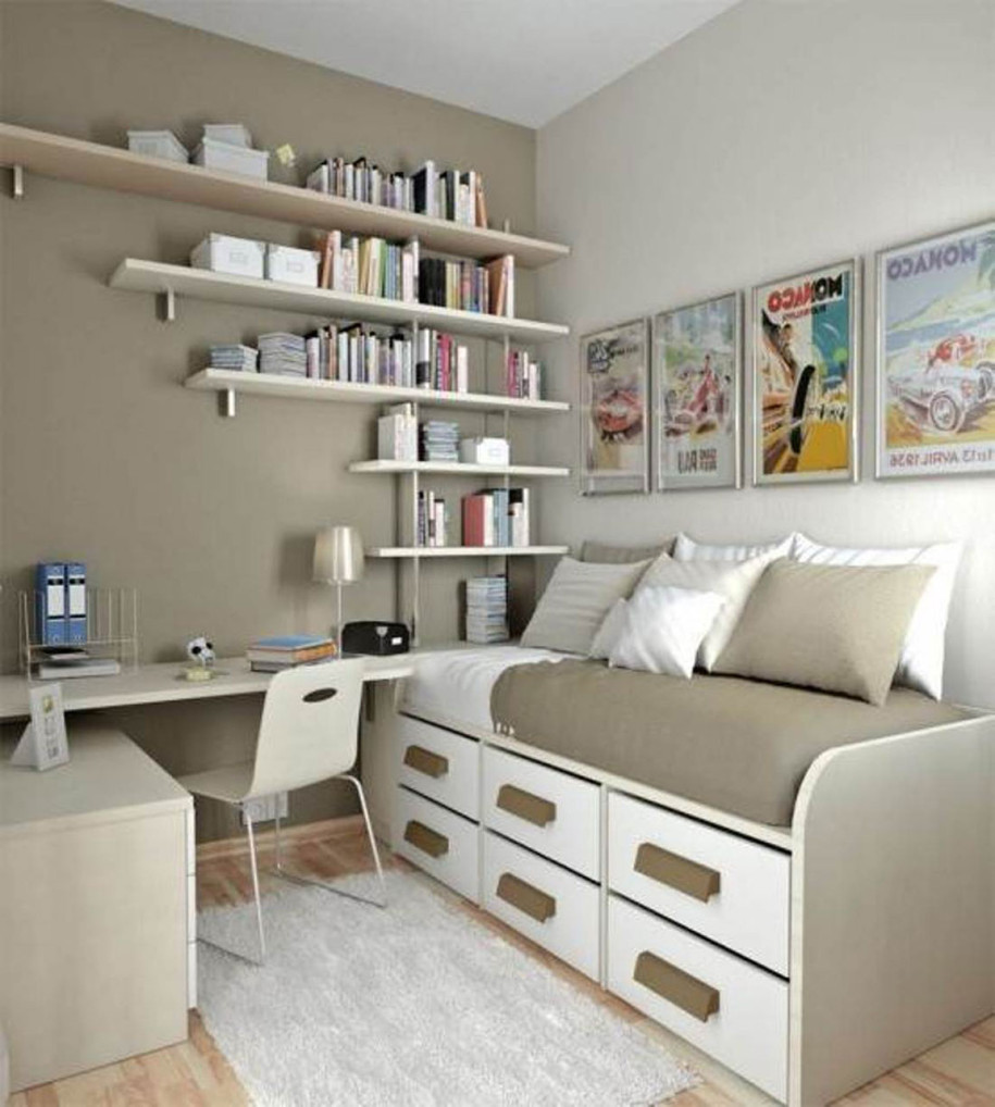 Simple Small Bedroom Desks - HomesFeed on Teenager Small Space Small Bedroom Design  id=49076