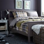 Squared Design Of Comforter Sets For Men With Grey Bed Frame Side Table And Rug