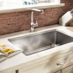 Stainless Steel Best Material For Kitchen Sink With White Cabinet