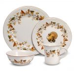 Thanksgiving Dinnerware Sets With Turkey Cock Design