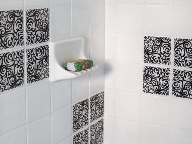 ceramic tile stickers bathroom awesome removable wall tiles homesfeed 17648