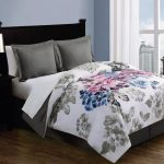 Twin Bed With Grey White Floral Better Homes and Garden Comforter Sets