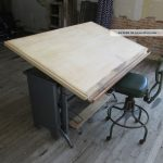 Vintage Drafting Table Old Style And Chair