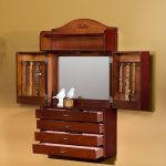 Wall Mounted Hanging Jewelry Armoire With Much Storage Places