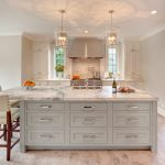 White Color For Top Rated Interior Paint Of Kitchen With Marble Kitchen Island